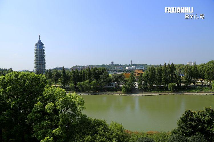 遥看重新修建的大报恩寺琉璃塔