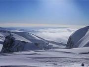 长白山天池雪 赏天池 滑野雪图片