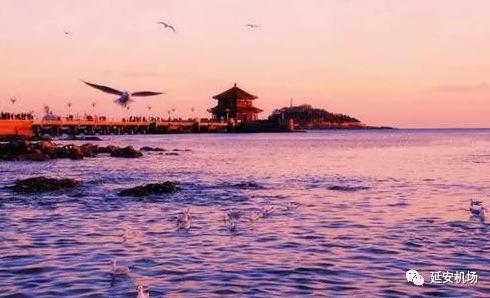 青岛栈桥风景画