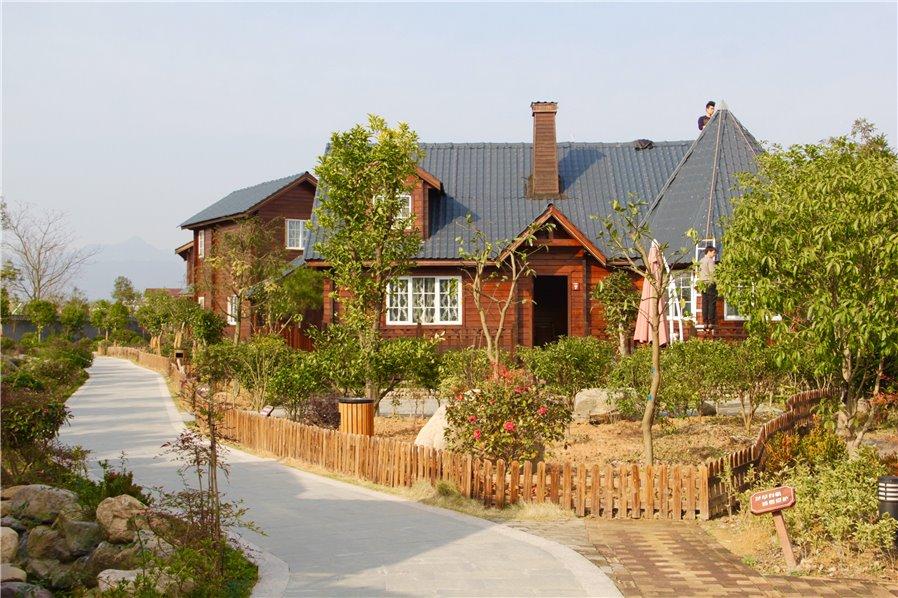 天台沸头和园小木屋图片