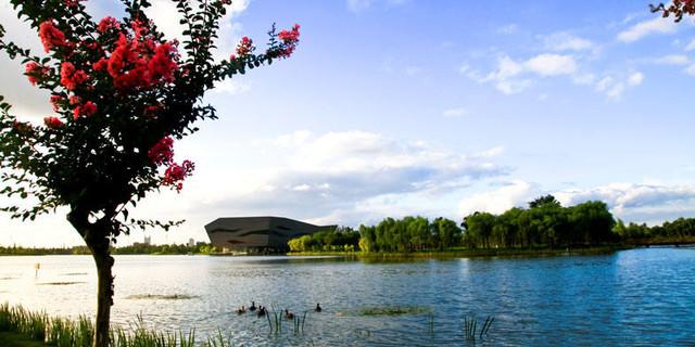 江苏泰州地�_江苏 泰州行程玩法  周末休闲好去处 by 旅行走失的猫 天德湖公园位于