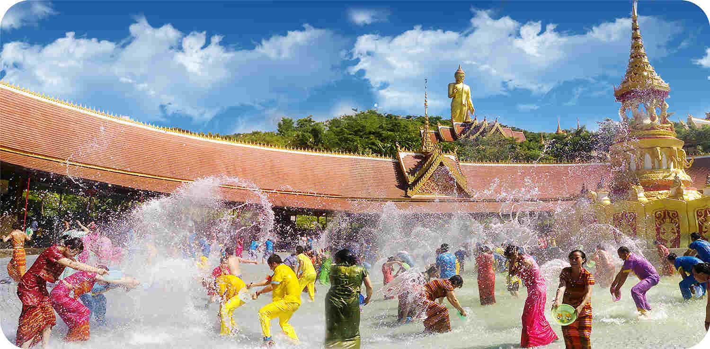 傣族节日矢量图