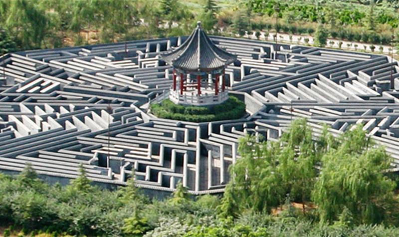 八卦阵迷宫 神秘莫测,妙趣横生图片